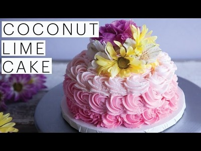 VEGAN Dessert Recipe: Decadent Coconut Lime Cake Collab with The Icing Artist   The Edgy Veg