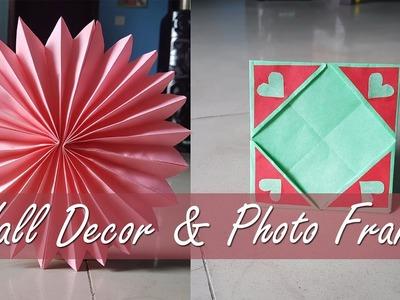 Wall Decor & Photo Frame    A simple DIY craft Ideas    Paper craft idea