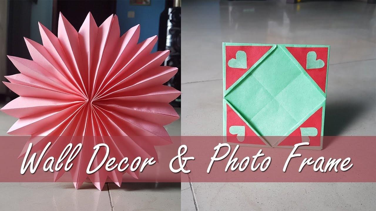 Wall Decor & Photo Frame || A simple DIY craft Ideas || Paper craft idea