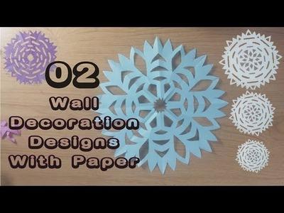 Wall Decoration designs Paper Cutting Craft | Craft | DIY | Paper Craft | No Glue Craft |
