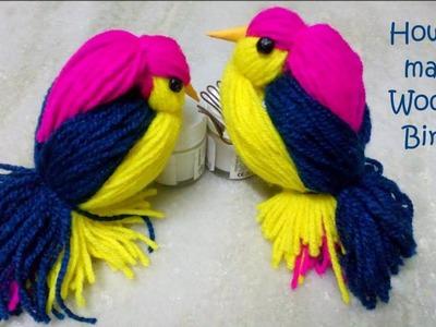 Woolen Birds Making    Yarn bird craft    How to make Woolen birds    DIY CraftsLane