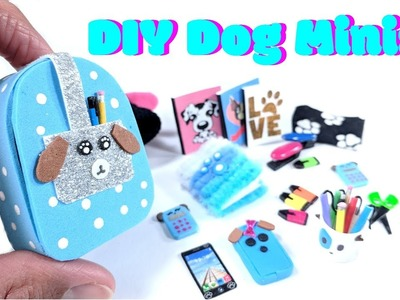 11 DIY Dog Miniatures - Backpack, Notebooks, School Supplies, Beanie & More
