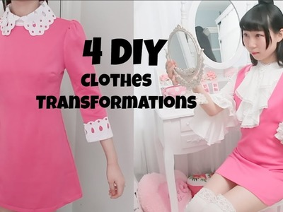 4 DIY Clothes Transformations! Ep2 Updating My Closet 2018