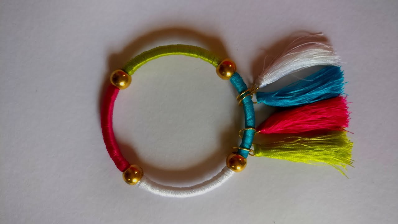 #4 How to Make Multi Color Silk Thread Bangles    DIY   How to Make to Jewellery