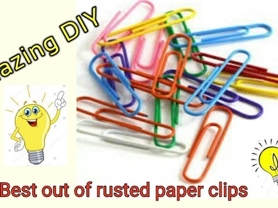 Amazing DIY with waste Paper clips ll Best out of waste