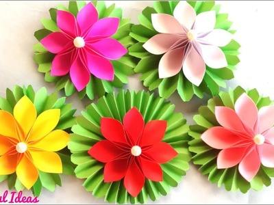 Beautiful Ideas.Origami Paper Flowers.Lotus Flowers Making with A4 Paper Sheets.Art & Crafts .