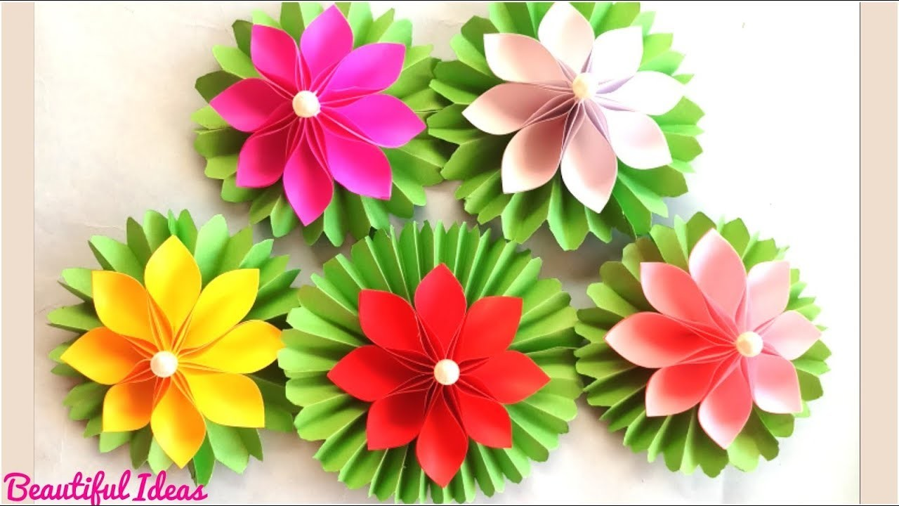 Beautiful Ideasorigami Paper Flowerslotus Flowers Making With A4