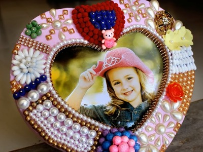 Best out of Waste || Handmade Heart Photo Frame || DIY home decorating ideas small living room india