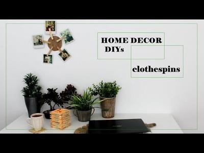 DIY | 3 easy crafts with clothespins ديكور مذهل لبيتك بثلاث طرق سهلة
