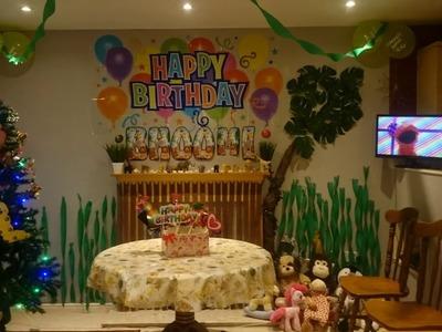 DIY Birthday Home Decoration Ideas (Jungle Theme)