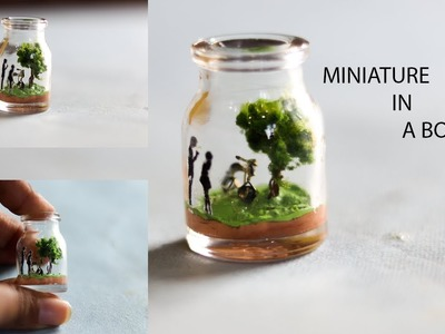 DIY BOTTLE MINIATURE | SUPER EASY BOTTLE MINIATURE |