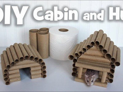 DIY Cabin and Hut Hideaways for Hamsters by Hammy Time