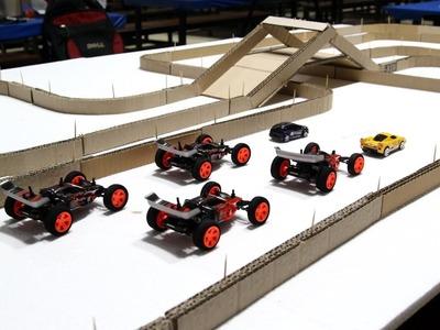 DIY Cardboard Racing Road for Super Cars