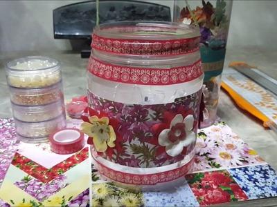 DIY Chinese Lantern - upcycled plastic jar - school project