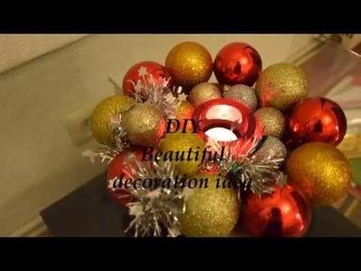DIY Easy Christmas Ornament Wreath , Centerpiece decoration