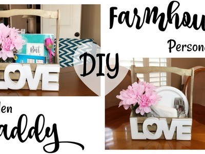 DIY Farmhouse Personalized Wooden Caddy + Tips For Multi Use