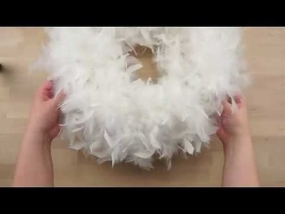 DIY Fluffy Chandelle Boa Wreath The Feather Place