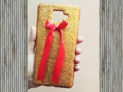 Diy glitter phone case   with a bow   easy diy   shakrasajda