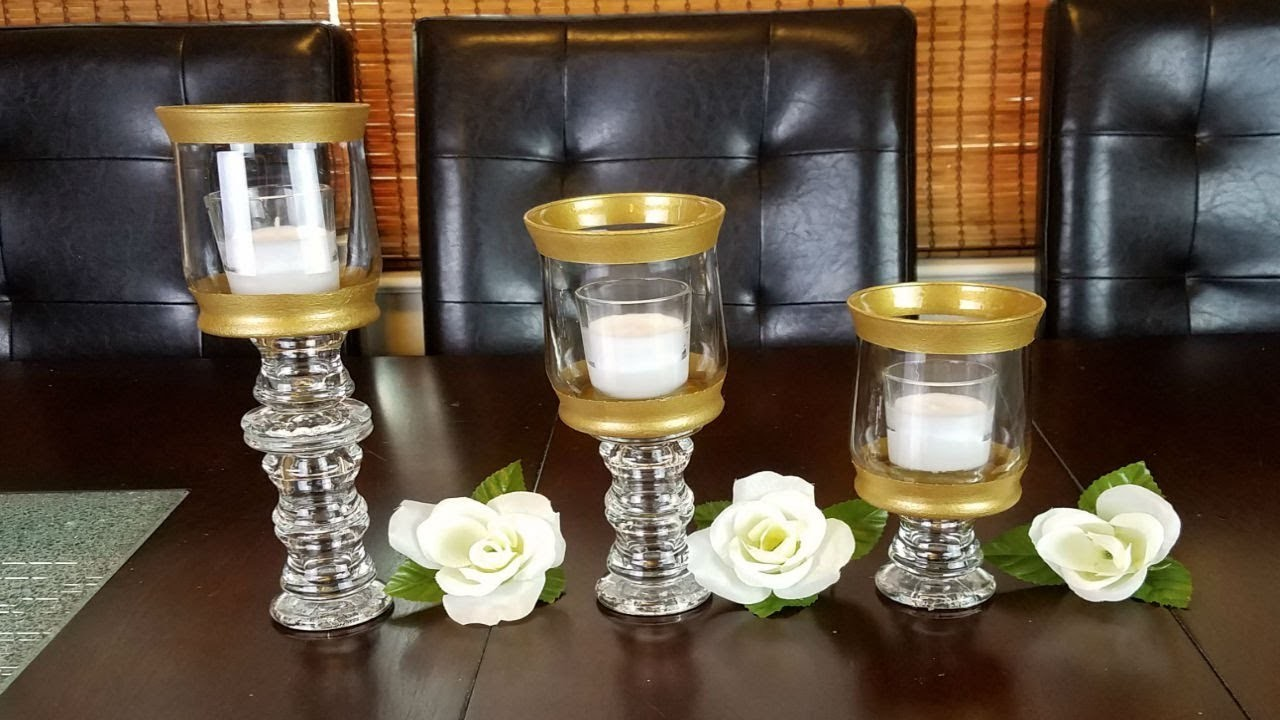 DIY Home Decor : Gold Candle Holders
