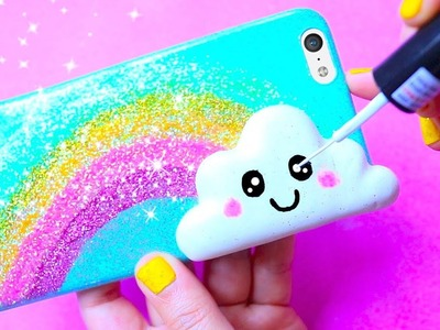 DIY Kawaii Rainbow & Cloud Phone Case | Easy & Cute