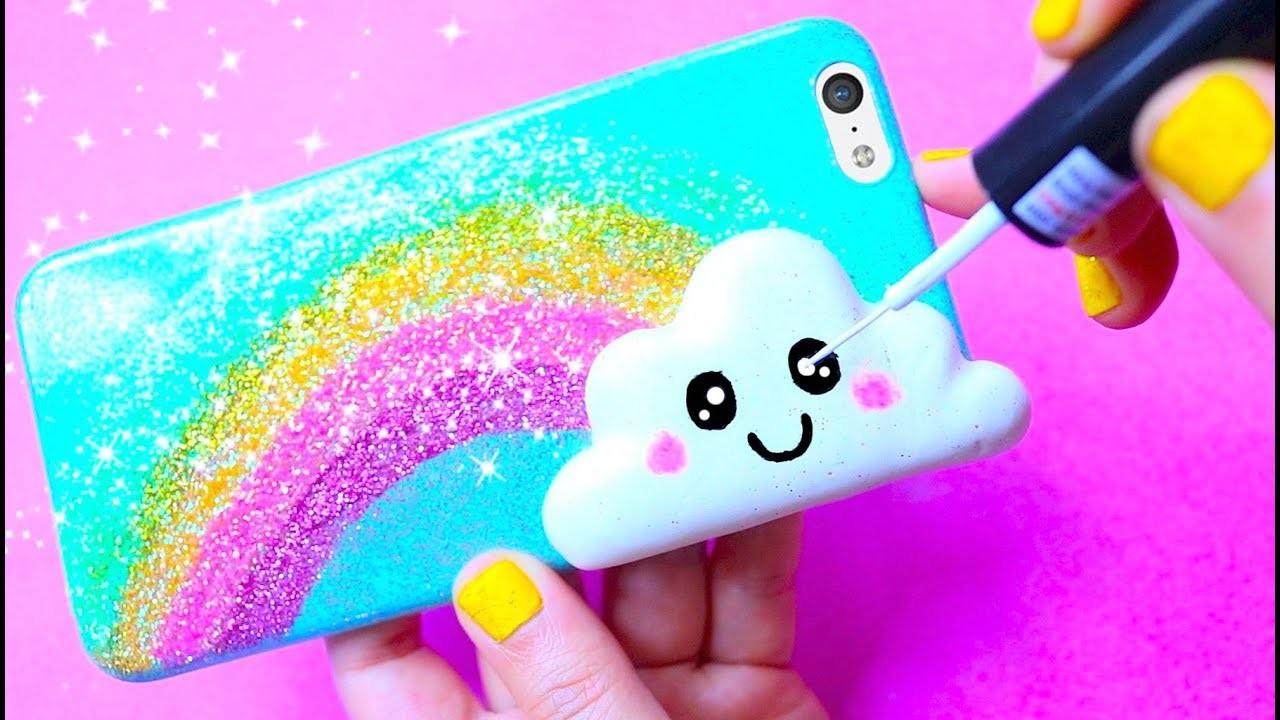 DIY Kawaii Rainbow & Cloud Phone Case | Easy & Cute