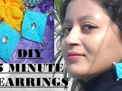 DIY Make earring in 5 minutes!!!!!