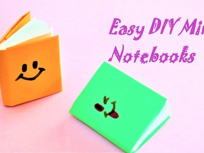 DIY MINI NOTEBOOKS- Easy DIY Back to School-One sheet of paper