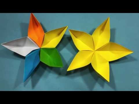 Diy Paper Craftshowto Make A 3d Paper Star Easy Origami Stars For