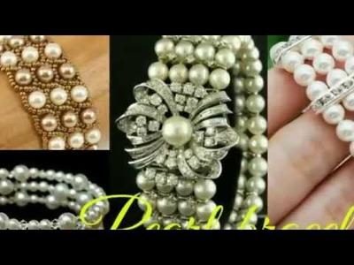 DIY pearl bracelet.how to make moti bracelet.pearl bracelet.pearl jewellery(by the creative honey)
