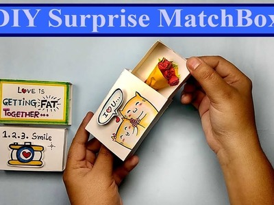 DIY Surprise Matchbox for Valentines Day II DIY Valentines Day Gift Idea II How to made a match box