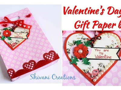 DIY Valentine's Day Gift Paper Bag. Love Paper Bag