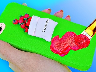 DIY VIRAL PHONE CASES ! Easy & Cute Phone Projects & iPhone Hacks . Miniature Food