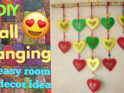 DIY Wall Hanging. Easy room Decoration.  Valentine's day room Decoration.