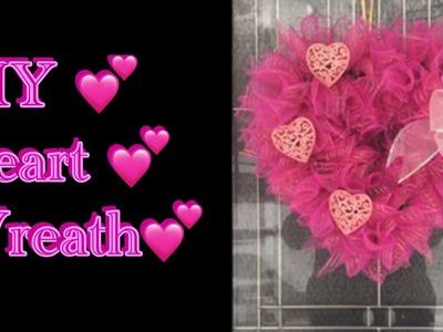 Dollar Tree DIY   Valentine Heart Wreath