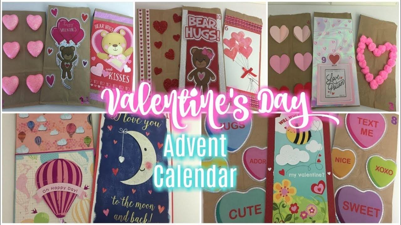 Dollar Tree Diy Valentines Day Advent Calendar Bags 2018