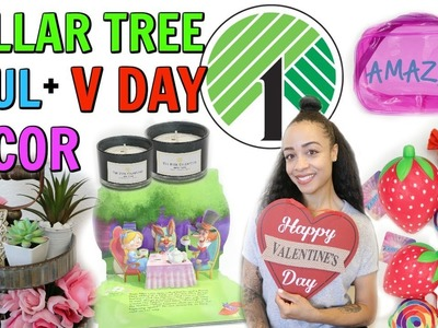 DOLLAR TREE HAUL! DIY VALENTINE'S DAY DECOR!