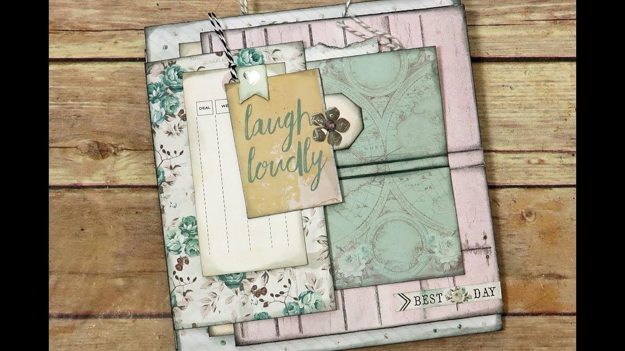 """Everlasting Bundle"" How to Build & Embellish a Mini Album Page ""Part 8"""