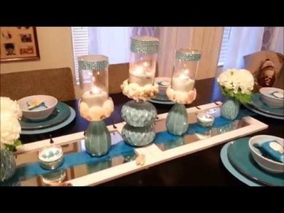 Follow up DIY Teal Beach Table Setting
