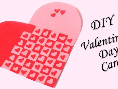 Handmade Valentine's Day Card | Heart Shaped DIY Valentine Card
