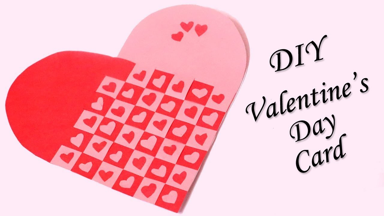 Handmade Valentines Day Card Heart Shaped Diy Valentine Card