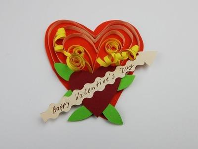 Happy Valentines Day gift tag DIY papercraft Valentinstag Geschenkanhänger