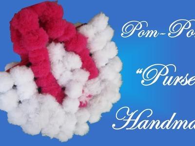 HM Make pom pom handmade purse || How to make pom pom purse