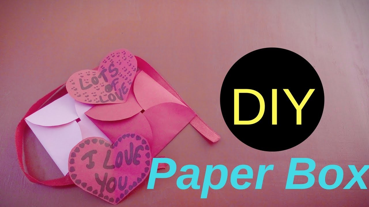How To Fold Easy Paper Box Tutorial Gift Making Instructions