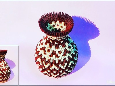 How to make 3d origami vase 48