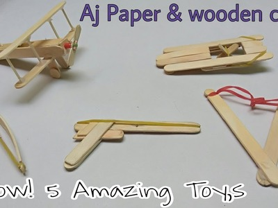 How To Make a 5 Rubber band & Ice Stick Toy,s | 5 Amazing Toy,s