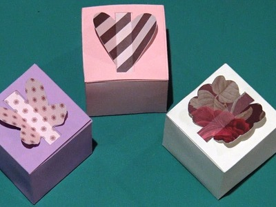 How to Make a Gift Box - DIY Paper Box (Heart Box, Butterfly, Flower. )
