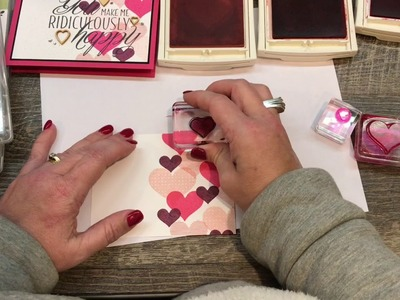 How to make a HAPPY card with Hearts