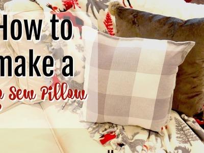 HOW TO MAKE A NO-SEW PILLOW | DIY