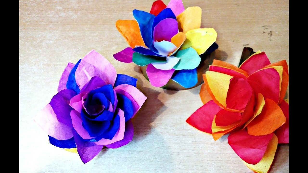 How To Make A Paper Flowers Most Easy