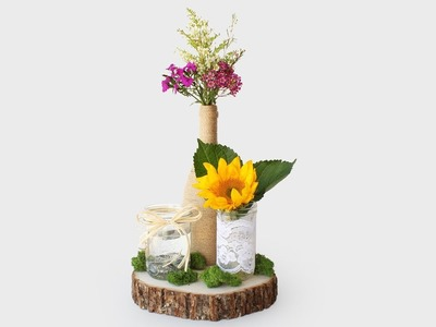 How To Make A Rustic Wedding Centerpiece